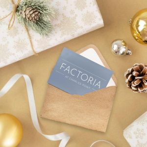 holiday festive gift card in an envelope